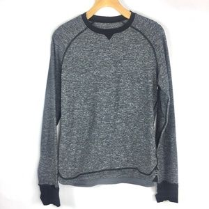Lululemon Heathered Grey Crew Long sleeve T-shirt